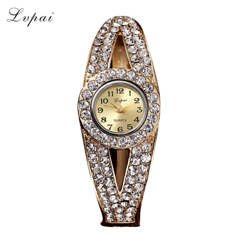 LVPAI Brand 2016 Watch Luxury Women Rhinestone Crystal Bangle Watches Bracelet Relogio Feminino Gift Wristwatch<br><br>Aliexpress