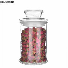 Long Mason Jars Clear Glass Food Tea Cofe Sugar Storage Bottles & Jars Kitchen Glass Canister Storage Bottles & Jars 3 Sizes(China)