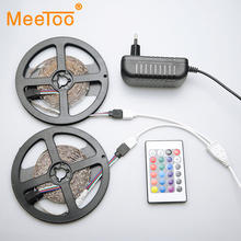 DC12V 10M RGB LED Strip Light SMD2835 IP68 Waterproof IP20 24 Keys IR Remote Controller 3A Power Adapter Led Flexible Light Tape(China)