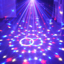 DMX Led Par Disco Laser For Disco Ball Party DJ Lights Christmas Projector Sound Control 9 Colors Magic Ball Stage Lamp 21Modes(China)