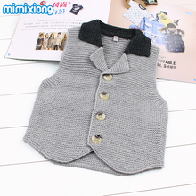 Winter Baby Boys Warm Waistcoat Formal Gentlemen Toddler Kids Wedding Party Vests Jackets Fashion Sleeveless Handmade Knit Tops(China)