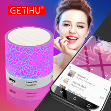 GETIHU Portable Bluetooth Speakers Wireless Hands Free Mini LED Speaker TF USB FM Sound Music Mobile Phone For iPhone 6 Xiaomi(China)