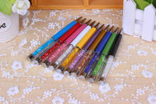 1pcs/lot Factory direct sale High Quality Good Gift Crystal Pen Promotion Ballpoint Rollerball pen Free shipping(China)