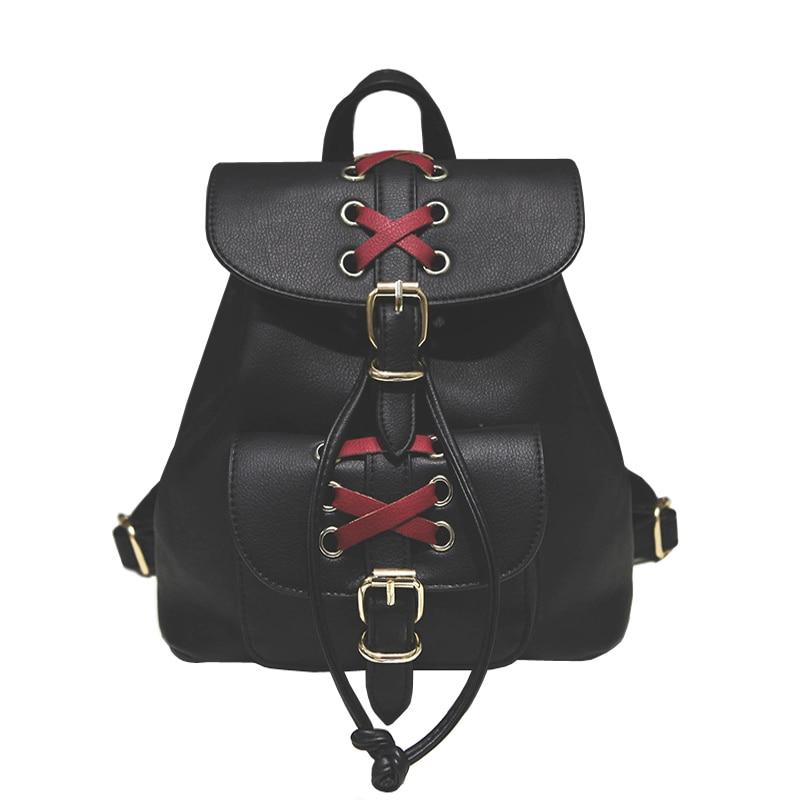 Cute Girls Backpack Women Ribbon Small Backpacks Fashion Brand Black Rucksack Teenagers Daypack mochila Designer Bags XA70H<br><br>Aliexpress