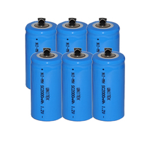 6PCS Sub C SC 1.2V rechargeable battery 2000mah ni-mh nimh cell with welding legs pins tab for vacuum cleaner electric drill(China)