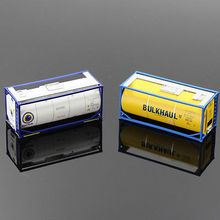 20ft Oil Tank Containers Shipping Container Freight Cars HO Scale lot model truck C8723 railway modeling(China)