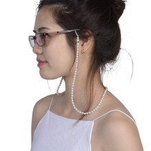 Women Handmade Fashion Imitation Pearl Beaded Eyeglass Eyewears Sunglasses Strap Rope Reading Glasses Chain Cord Holder 2017 New