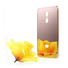 Cover for Xiaomi Redmi Note 4X Slide-on Mirror-like PC Back Case with Metal Frame Rim for Xiaomi Redmi Note 4X Back Cover Case
