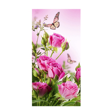 30*40cmPink flower butterfly scenery grassland  Favorites Diamond Embroidery DIY Creative Home Decor 1PCS 2017