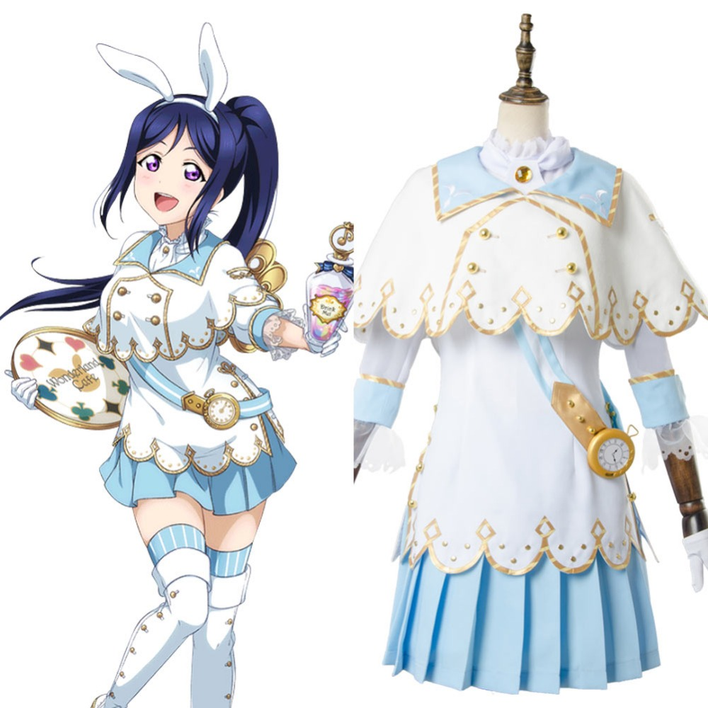 Lovelive Cosplay Love Live ! Kanan Matsuura Aqours Wonderland Ver Maid Dress Cosplay Costume Halloween Carnival Costume Full Set