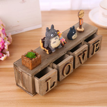 1SET 13CM New TOTORO Miyazaki Hayao Action Figure Anime My Neighbor TOTORO Resin Figures Kids Toys LOVE Model Figurine Doll(China)