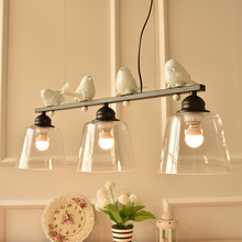 A1 led Bird Pendant lights Iron North American style simple living room bedroom creative lamp personalized art deco restaurant