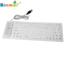 2017 USB roll-up Flexible Silicone Keyboard For PC Laptop Fashionable