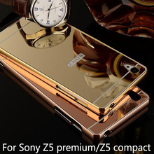 Buy Luxury Aluminum Metal Hybrid case Sony Xperia Z5 premium/Z5 compact Hard Mirror PC Protector Back Cover phone cases for $2.92 in AliExpress store