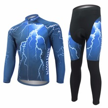 Amur Leopard Breathable MTB Road Bike Clothing Bicycle Sportswear Long Sleeve Mens Cycling Jersey Set
