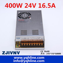2 year warranty 400W SMPS switching power supply single output 24V 16.5A ac-dc LED/ industry power suply DC adjustable S-400-24