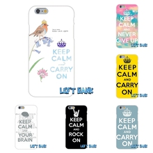 For iPhone 4 4S 5 5S 5C SE 6 6S 7 Plus Keep Calm and Carry On Soft Silicone TPU Transparent Cover Case(China)