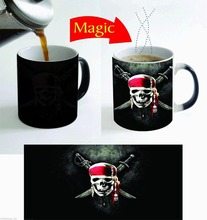 Pirates of Caribbean Magic mugs coffee mug disappearing heat reveal cup cold hot heat changing color magic mug tea cups