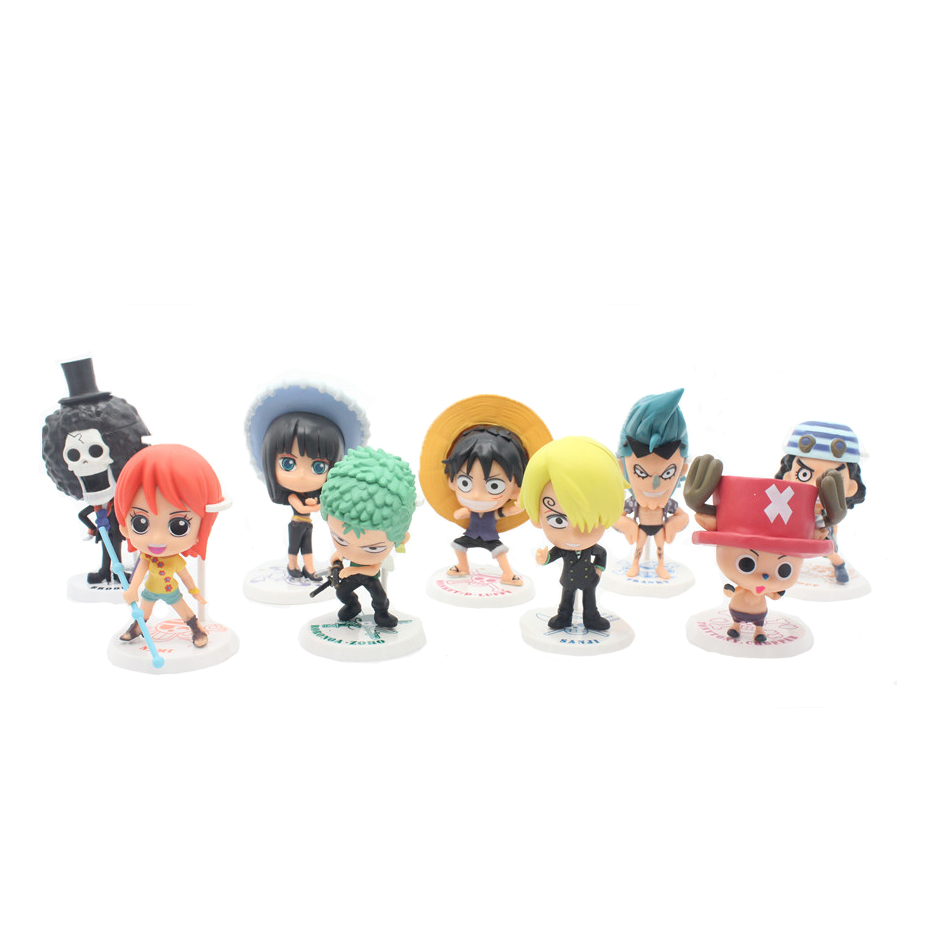 Chanycore Limited Collection 12CM 9pcs/set One Piece New World Anime Figuarts SPECIAL MH POP Luffy  zoro nami Action Figure<br>