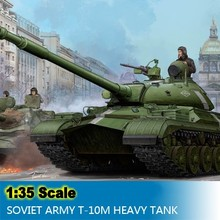 1:35 Scale Assembly Tank Model Russian Soviet Army T-10M Heavy Tank Model Building Kits Tank Colletion DIY Free Shipping