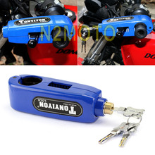 High Quality Aluminum Motorcycles Handlebar Grip Lock  Brake Clutch Lever  Theft Protection Anti Security Blue