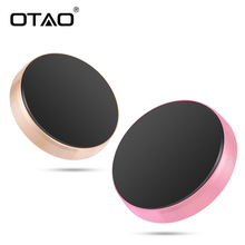 OTAO magnetic mobile phone holder magnet universal phone stand portable mini car dashboad phone GPS holder for iPhone for Xiaomi(China)