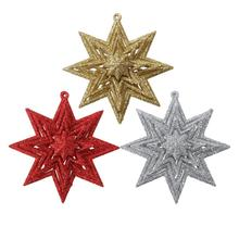 Hollow Octagonal Star Elk Angel Hanging Ornaments DIY Christmas Tree Top Decoration for Home Christmas New Year Products(China)