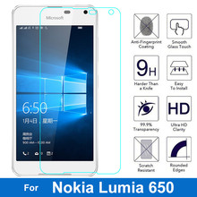 For Nokia Microsoft Lumia 650 Tempered Glass Screen Protector 9H 0.26MM 2.5D Safety Protective Film On Lumia650 Dual Sim