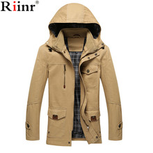 Riinr 2017 New Winter Warm Jacket Men Casual Brand Waterproof Clothing Top Quality Thick Fit Cotton Men's Jackets Coat Parka(China)