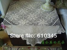 Free Shipping Hot selling 100% cotton hand knitting Crochet tablecloth 85x85cm Table cover table cloth Small size(China)