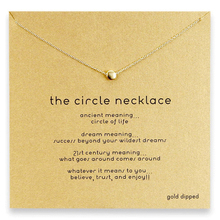 delicate gold plate chain choker necklace small round beads necklace for women jewelry(China)
