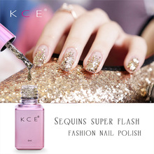 Sexy Glitter Effect Blue Color Shiny Soak off UV Nail Gel Varnish New Arrival Bling Gel Polish Nail Lacquer