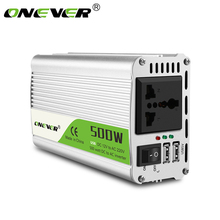 Onever 500W Inverter 12 V 220 V Voltage Transformer DC To AC 12V To 220V Power Converter with Dual USB Car Charger Adapter(China)
