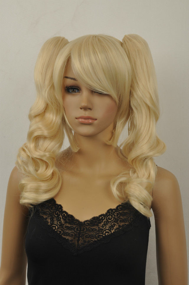 100% Picture full lace wig USJF10003 New long blonde curly ladys ponytail wigs for women hair Wig<br><br>Aliexpress