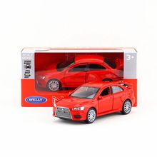 Welly Diecast Model/1:36 Scale/Mitsubishi Lancer Evolution X toy/Pull Back Educational Collection/for children's gift(China)