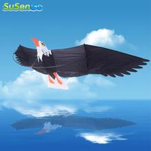 SuSenGo 3D Eagle Kites Outdoor Fun Sports Desert Eagle Birds Albatross Surfing Kite Toy Power With Handle & 42m Line Easy Flying