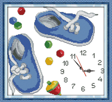 Innovation items needlework kit DIY home decoration counted cross stitch kit clock embroidery set - Sneakers clock face