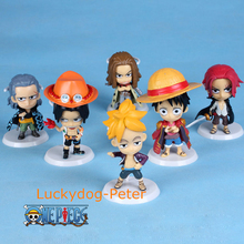 One Piece 71 Edition Action Figure Luffy Zoro Franky Brook Sanji Usopp Dolls PVC ACGN figure Garage Kit Anime 60MM(China)