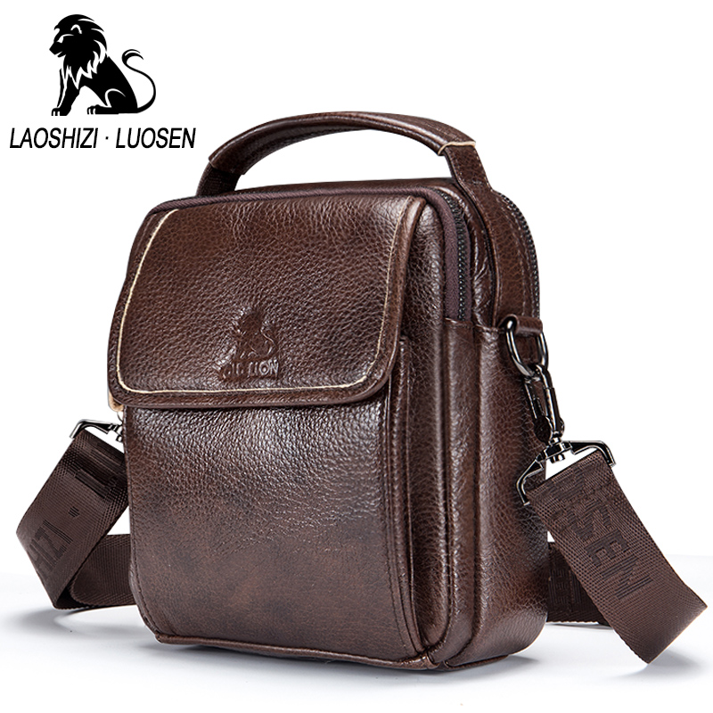 Retro Casual Bag Genuine Leather Man Brand Design Crossbody Shoulder Bag Small Business Bags Male Messenger Bags Cow Leather <br>
