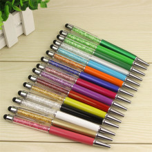 15 Colorful Crystal Pen Diamond Ballpoint Pens Stationery Ballpen Caneta Novelty Gift Zakka Office Material School Supplies(China)