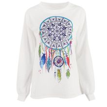 New Fashion Apring Fall Women's Crewneck Sweatshirt Tops Loose Blouse Pullover Long Sleeve Hoodies