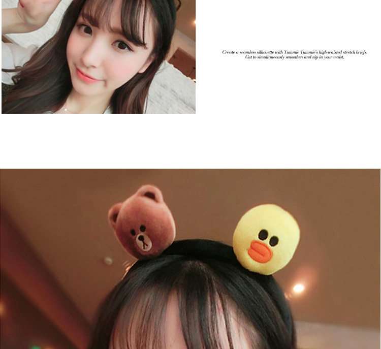 kids baby infant child girls and Mom Cute little rabbit bear headwrap hair bands Small yellow duck elastic ribbon headband Accessories (1)