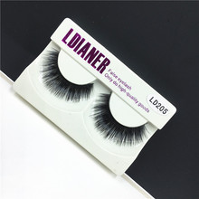 1 Pair Real Mink Natural Long Black Makeup Fake False Party Eyelashes Eye Lashes Extension Tools