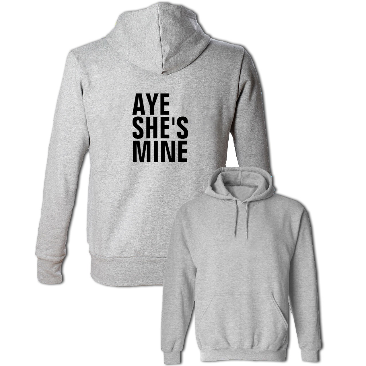 Aye She's Mine Couple Hoodies Men's Women's Girls Boys Sweatshirt Multi Color Cotton Jackets Hip Hop Fashion Tops Size S-3XL