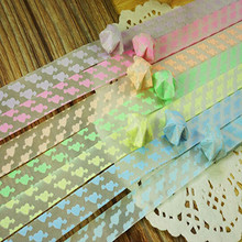 120PCS/lot Luminous Star Paper Stone Mandrel Hazy Lucky Origami Stars Paper Strips Handmade Paper Stars and Stackers For Home