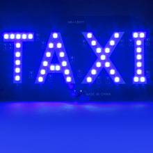 Newest Taxi led Car Windscreen Cab indicator lamp Sign Blue LED Windshield Taxi Light Lamp 12V #iCarmo