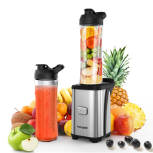 HomgeekEU Mini Fruit Vegetable Juice Extractor Personal Smoothie Blender Detachable Food Processor 2 BPA-Free Travel Sport Cup(China)