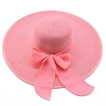 2017 Korean Fashion Vintage Hat Lady Summer Wide Along Bow Visor Sun Beach Straw Hat Mujer Cap Candy Colored Sun Hats for Women