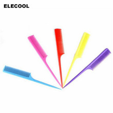ELECOOL High quality Professional colorful comb heat resistance plastic Fine-tooth cosmetic comb hair easy use anti static
