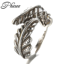 Europe and America Style Antique Silver Plated Angel Wing Opening Rings For Men Women Jewelry Gifts Round Ring Wholesale 680